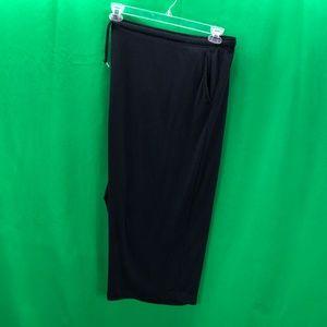 Woman Within 5X Black Capri Pants Elastic Waist